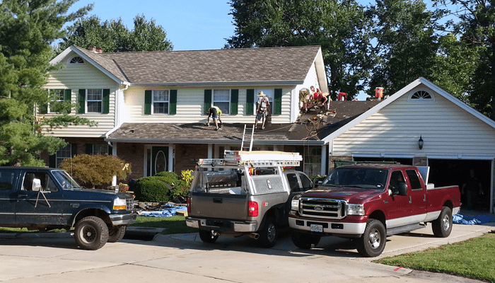 100 roofing job roberts roofing co inc commerc